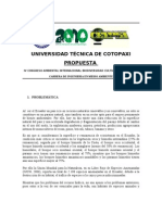 Propuesta IV Congreso Ambiental[1]