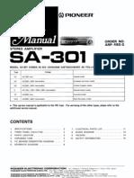 Pioneer SA-301 Manual