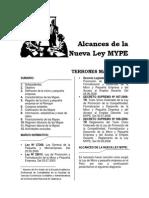 Alcances de La Nueva Ley Mype