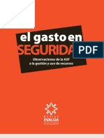 Gasto en seguridad - México Evalúa