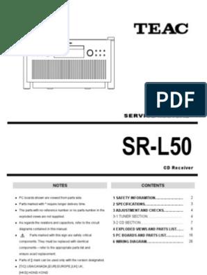 Teac SR-L50 Manual   Electrical Engineering   Radio
