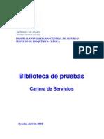 biblioteca pruebas bioquimica