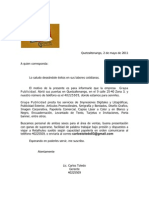 carta recurso humano