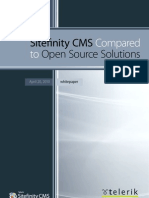 Sitefinity CMS Compared to Open Source Solutions