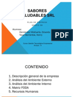 Analisis Interno y Externo de Empresa