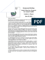 Thayer South China Sea Prospects for Armed Conflict