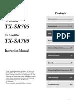 Onkyo TX-sr705 Manual Full