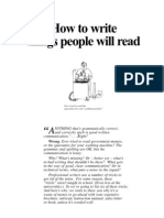 How to Write Things People Will Read