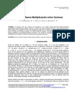 J E Hernandez R, E Roca O y R Betancourt R Division y Nueva Multiplicación entre Vectores, Journal of Vectorial Relativity 4 (2009) 1 34-35