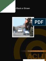 Arizona Racial Profiling Report Driving Black or Brown