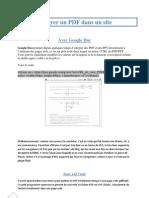 Intégrer un PDF dans un site