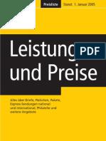 DHL - Leistungen + Preise
