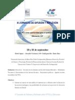 3° Jornadas de Difusión y Reflexión sobre Tecnología y Educación