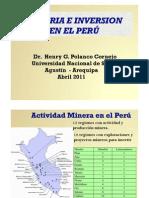 Minería e inversión en el Peru