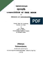 Sphuṭa-chandrāpti by Mādhava