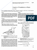 Ultimate Bearing Capacity of Foundation on Clays - Meyerhof