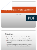 Two-Dimensional Static Equilibrium