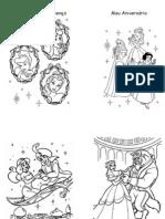 Livrinho para Colorir das Princesas