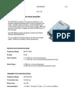 MHA 900MHz Dual Datasheet 1105