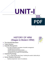 History of Hrm Stages to Modern Hrm