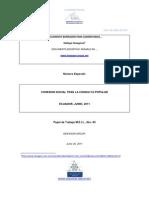 M.E.I.L. sobre Cohesión Social en Ecuador ; Borrador Final
