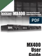 MX400 Manual