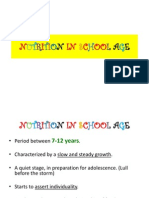Nutrition in School Age