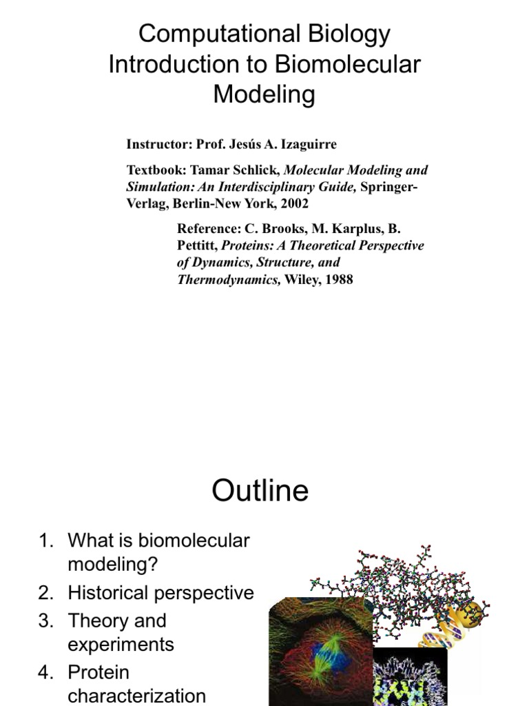Molecular Modeling and Simulation An Interdisciplinary Guide