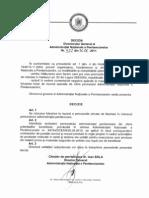 Decizie ANP 522-2011 Interzicerea Folosiii La Munca a PPL in Interesul Personalului Administratiei re
