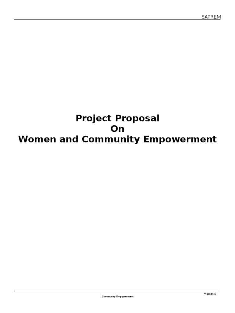 Women   Community Empowerment Project Proposal | Empowerment | Slum