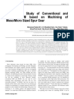 Comparative Study of Conventional and Micto WEDM