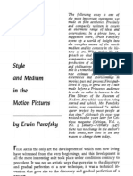 Panofsky, Style and Medium in Motion Pictures