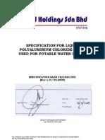 201003240324460.Specification for Liquid Polyaluminium Chloride (Lpac) -1