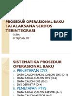 Prosedur Operasional Baku Serdos