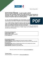 NR - Invitation presse - Annonce des nouvelles actions de la Ville contre les discriminations à l'emploi 040711