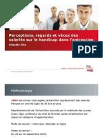 Regards Des Salaries Sur Le Handicap - Enquete Ifop-Adia 2009