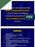 t.22LA FUERZA COMO CAPACIDAD FÍSICA BÁSICA. CONSIDERACIONES TEORICAS. TIPOS DE FUERZA. TRATAMIENTO Y CRITERIOS PARA EL DISEÑO DE TAREAS  PARA SU DESARROLLO EN EL MARCO ESCOLAR.