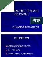 1. Trabajo de Parto Anormal - Distocias - Dr. Prieto