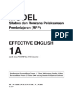 Model Silabus & Rpp English 7 Smp Ganjil