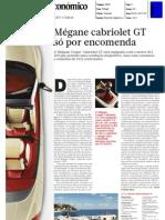 """RENAULT MÉGANE COUPÉ-CABRIOLET GT 2.0 dCi 160 CV NO """"DIÁRIO ECONÓMICO"""""""