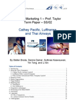 Term Paper Lufthansa Cathay Thai