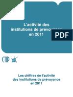 L'activité des institutions de prévoyance en 2011