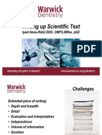 Writing Up Your Scientific Text