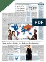 Il Corriere della Sera - La mappa mondiale dei social network