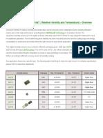 Sensirion Digital Humidity Temperature Sensors - Over View New 2010 (2)
