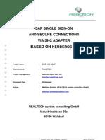 SAP Single Sign-On Und Secure Connections via SNC Adapter Basierend Auf Kerberosv5 En