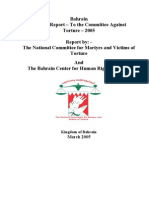 Shadow report to the UN Committee Against Torture [2005]