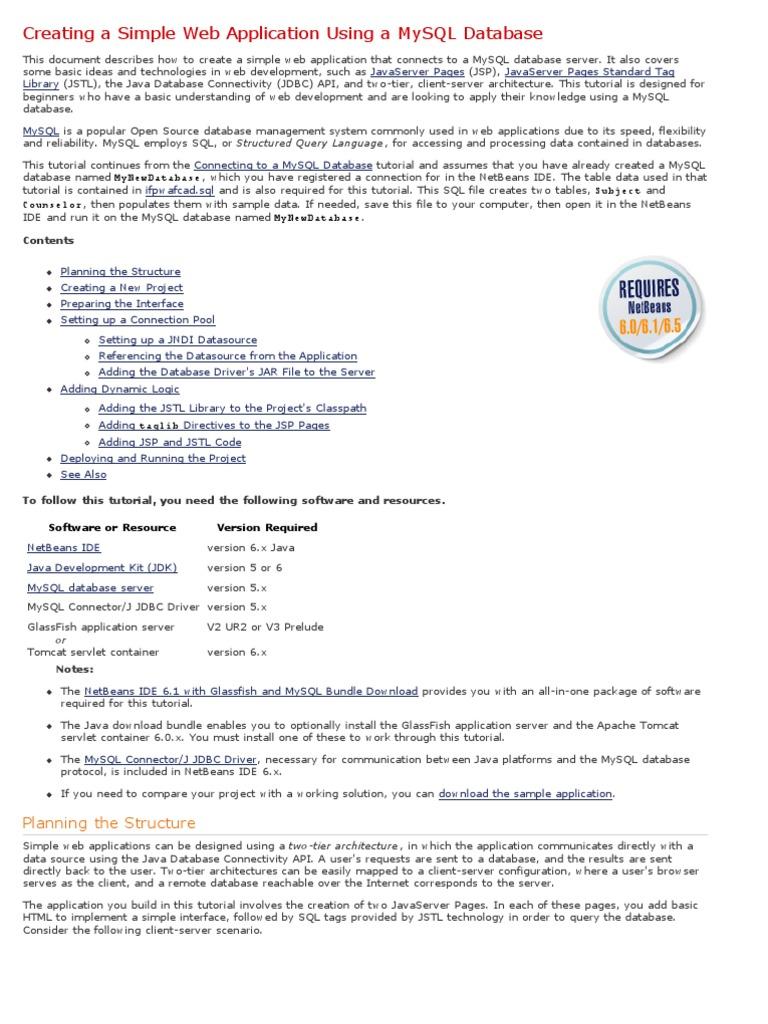 Testwww_ Creating a Simple Web Application Using a MySQL