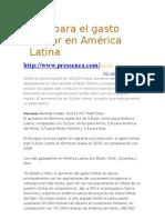Se dispara el gasto militar en América Latina