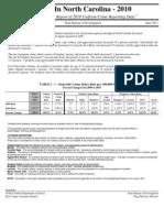2010 Crime Statistics Annual Summary